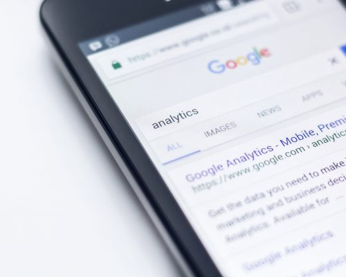 Canva - Phone Showing Results For Analytics Search on Google