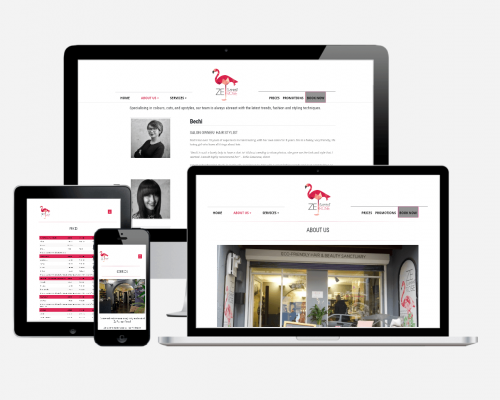Wordpress Website Design for Ze Flamant Rose